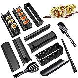 Kit Para Hacer Sushi,12 Piezas Set de Herramientas de Sushi,8 Formas únicas de Molde Sushi Maker Equipment Roll Sushi Herramienta, Bricolaje Molde