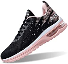 B BEASUR Air Shoes for Women Athletic Sports Workout Gym Tennis Running Sneakers - Peachblack - Size 10