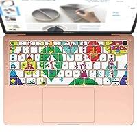 igsticker MacBook Air 13inch 2018 専用 キーボード用スキンシール キートップ ステッカー A1932 Apple マックブック エア ノートパソコン アクセサリー 保護 013763 クリスマス カラフル ツリー