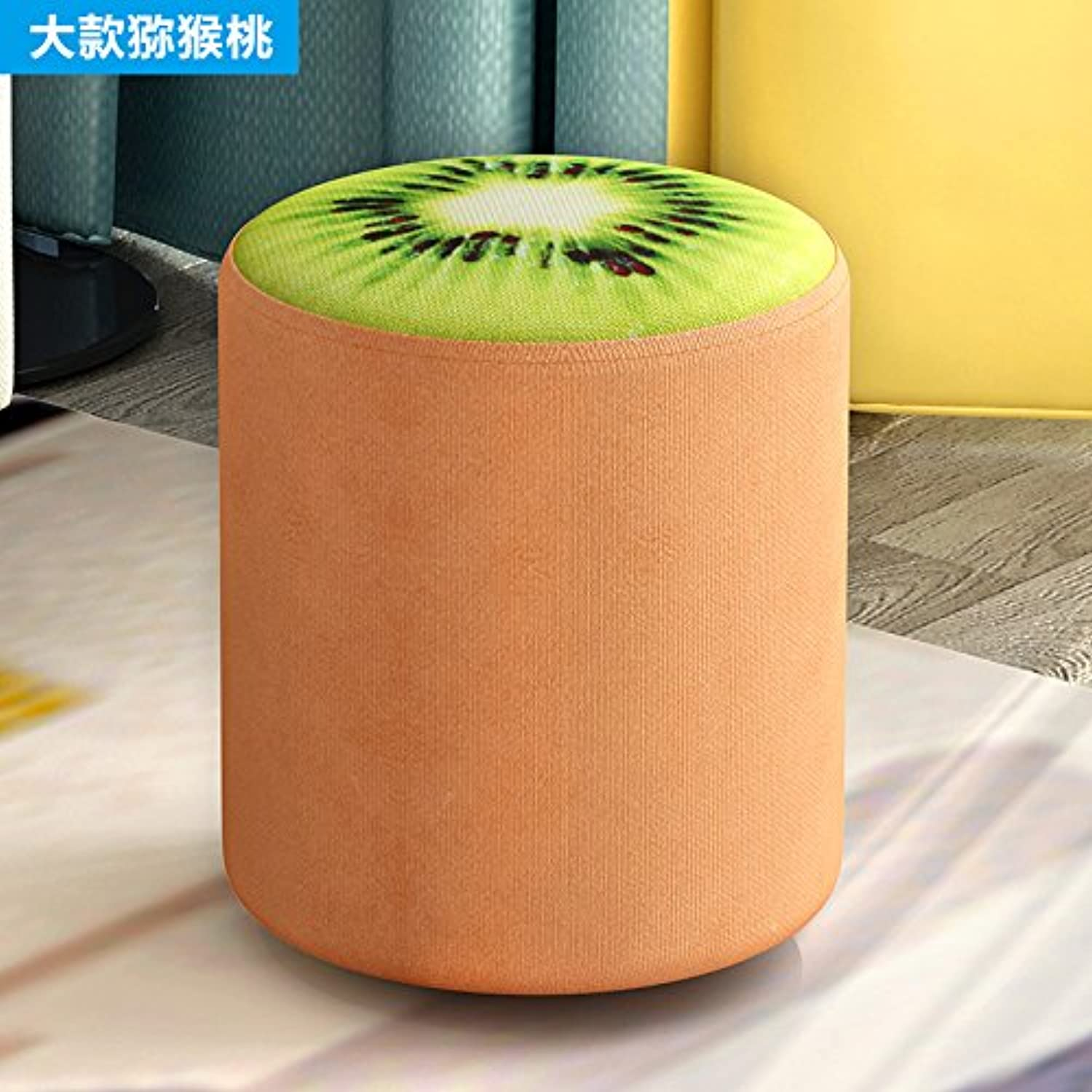 Dana Carrie Stool Home Fruit of The shoes Bench Benches Sofa Chair Wooden Chair Fabrics stool Seating, Kiwi 28  27CM