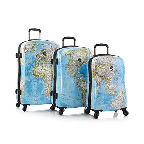 Affordable Heys America Journey 2G Maps 3pc Hardside Fashion Spinner Set (Multicolor)