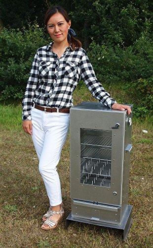 SMOKI-Räuchertechnik Fumoir de 85x 39x 33cm en acier...