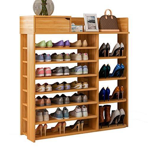 Zapatero Shoes Rack Zapatero Los estantes del Zapatos estante del zapato del organizador del almacenaje del zapato de madera del gabinete a prueba de polvo del zapato armario multicapa for la sala Pue