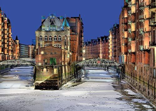 Hamburg - Speicherstadt (mit Elbphilharmonie) im Winter