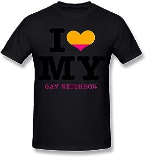 JWZT-KN Men's I Heart My Gay Neighbor Eps Tshirt