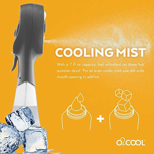 O2COOL Elite Water Misting Fan, Grey