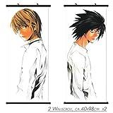 2 PC Kakemono Wandbanner Wallscroll für Death Note L und