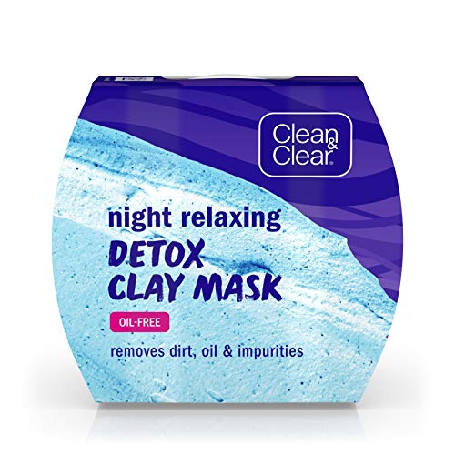 Clean & Clear Night Relaxing Detox Bentonite and Kaolin Clay Face Mask for a Purifying Deep...