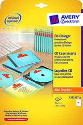 CD/DVD-Einleger unbeschichtet ws 151x118mm 170g, Mikroperforation