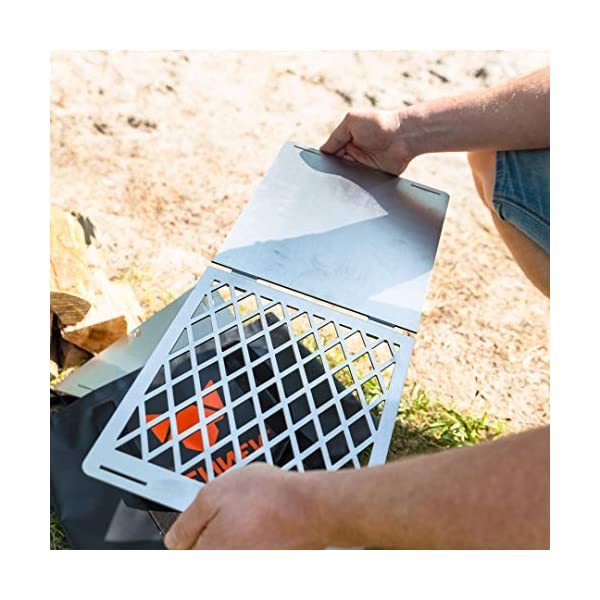 FENNEK 4FIRE | Grill grate for the mobile fire pit Hexagon | for camping, fishing vanlife and much more.