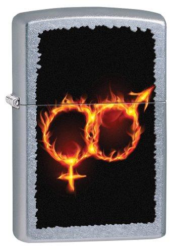 Zippo Man Woman Fire Pocket Lighter