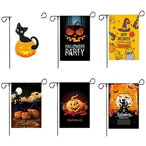 ZYRAY Halloween-Garten-Flaggen-Doppeltes 30 x 45 cm Doppelseitige Sackleinen Rasen im Freien und Werbebanner, Enthält Keine Fahnenmasten
