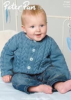 Peter Pan Baby Cardigan Knitting Pattern 1062 DK