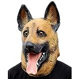 Halloween Cosplay Party Novelty Halloween Costume Party Latex Dog Head Mask (German Shepherd)