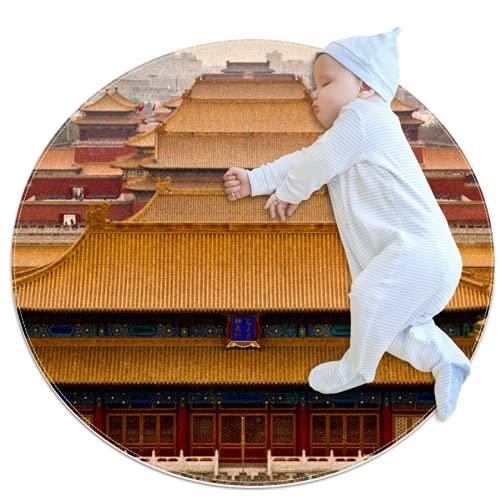 Forbidden City Beijing - Alfombra de algodón para el suelo, no tóxica, antideslizante, reversible, lavable para bebés, niñas, sala de estar, cama