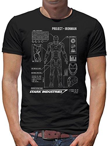 TShirt-People Project Ironman - Camiseta para hombre Negro XXXL