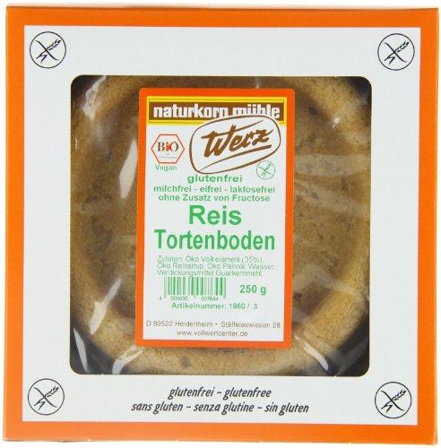 Werz Reis-Tortenboden klein glutenfrei, 3er Pack (3 x 250 g) - Bio
