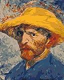 ZYCD Pintar por números Pintor de autorretrato con Pinceles y pigmentos acrílicos Pintura de Lienzo DIY para Adultos Principiantes