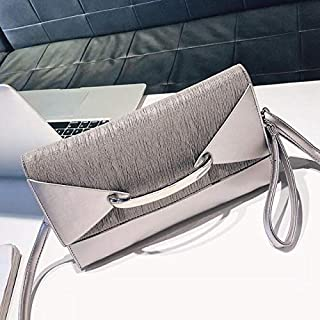 iBag's Envelope Clutch Bag Women Leather Luxury Handbags Birthday Party Evening Clutch Bags For Women Ladies Shoulder Clutch Bag Purse