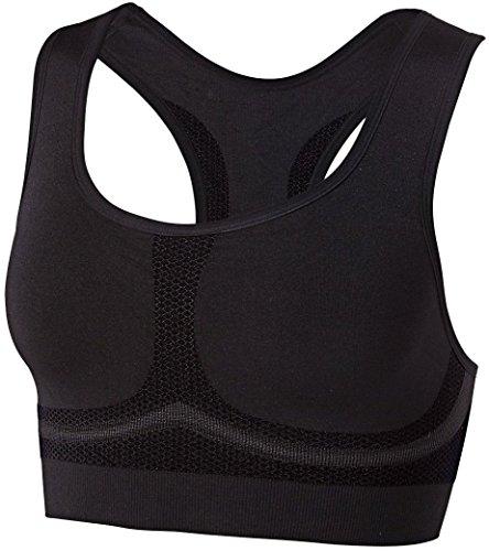 CRIVIT® Damen Sport-BH, Seamless Shapeware, High Level, schwarz, Gr. S