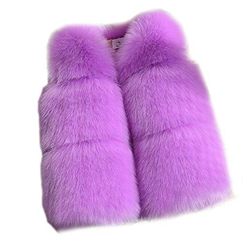 FOLOBE Kinder Herbst Winter Faux Pelz Weste Oberbekleidung Warm Mantel Weste ?rmellos Casual Warmer Weste M?dchen