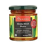Aamra Homemade Traditional Nimbu Mirch (Lemon & Chilli) Pickle 180 Grams
