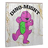 Guwafa8 Dino-Might Buff Barney Shower Curtain Set Bathroom Fabric Fall Curtains Waterproof Colorful Funny with Standard Size 59 by 71 (Inch)