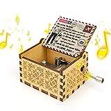 LINGSFIRE Caja de música, caja musical grabada antigua para regalo de hija, caja musical de madera clásica para cumpleaños, ceremonia de Navidad, decoración del hogar, una carta a mi hija (alemán)