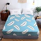 NHhuai Protector de colchón - Protector de colchón antialérgico Colcha de Cama Tipo faldón Cubierta de Cama de una Sola Pieza