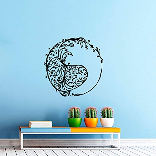 Creative Unique Design Wall Sticker Tribal Fish Silhouette In Circle Art Wall Decals Home Living Room Special Decor 42x42cm