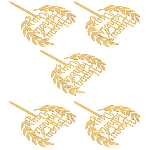 Amosfun Vatertag Kuchen Topper Acryl Golden Happy Fathers Day Kuchendeckel Topper Torten Topper Dessert Kuchen Picks 15 Stück Vatertag Vater Geburtstagsfeier Party Tortendekoration