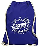 Hariz - Bolsa de deporte con 6 números de cómic, divertida sorpresa y tarjetas de regalo, azul real (Azul) - SechsterGeburtstag04-WM110-10-1