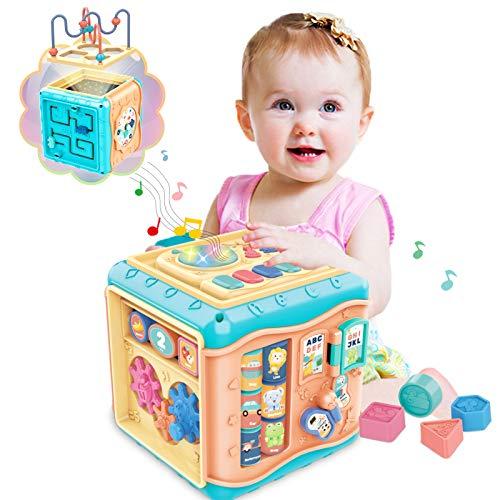 ATCRINICT 6 en 1 Cubo de Actividad multipropósito Juguetes de bebé para...