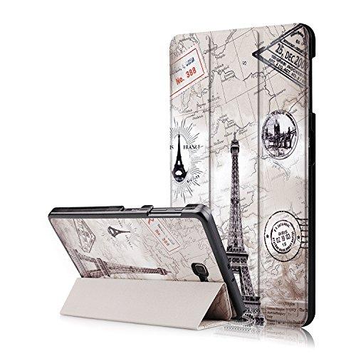 Xuanbeier Funda Compatible con Samsung Galaxy Tab A 10.1 SM-T580 T585 (Tab A6) con Soporte Función Auto-Sueño/Estela,Eiffel