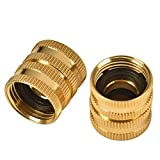 REGNHLIF 2 Pack 3/4' Garden Hose Connector with Dual Swivel for Male Hose to Male Hose, Double Female
