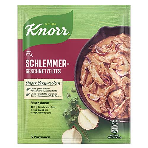 Knorr Fix Schlemmer-Geschnetzeltes, 43g Beutel, 11er Pack (11 x 43 g)