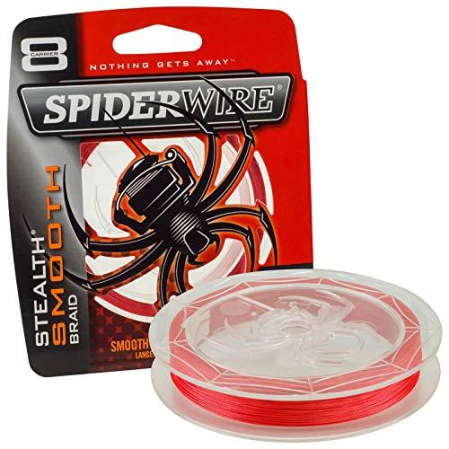 Spiderwire Stealth Smooth 8 New 2020 - Sedal trenzado de 8 capas con microrevestimiento, 0,05 mm - 0,11 mm, color rojo (300, 0,07 mm - 6,0 kg)