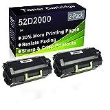 Paquete de 2 cartuchos de tóner (negro), compatible con impresoras Lexmark MS810de MS810dn MS810dtn MS810dtn MS810n MS811dn MS811dtn MS811n