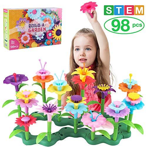 CENOVE Blumengarten Spielzeug für 3 4 5 6 jährige Mädchen,Pädagogische Spielzeug Kreative Spiele Kunst und Kunsthandwerk Geschenke für Mädchen ab 3 4 5 6 Jahren (98pcs)