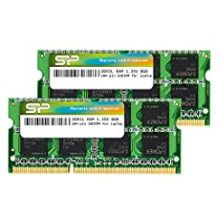 1600MHz (PC3 12800) 204-pin CL11 SODIMM for laptop memory Runs at low voltage of 1.35V that enables to effectively decrease hardware power consumption. Compatible with MacBook Pro13-inch/15-inch Mid 2012, iMac 21.5-inch Late 2012/ Early/Late 2013 Hyn...