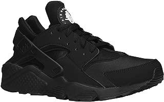 Nike Men's Air Huarache Black/Black/White Running Shoe - 8
