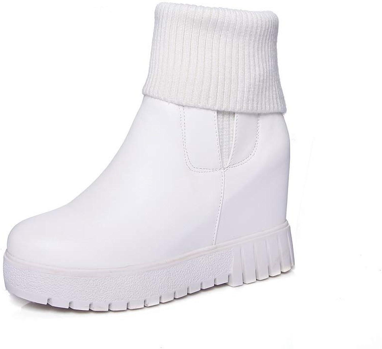AN Womens Heighten Inside Sponge Soles Urethane Boots DKU02141