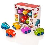 Tippi Monster Movers weiches Spiel schieben Autos Set - Baby oder Kleinkind Spielzeug (5er Set)
