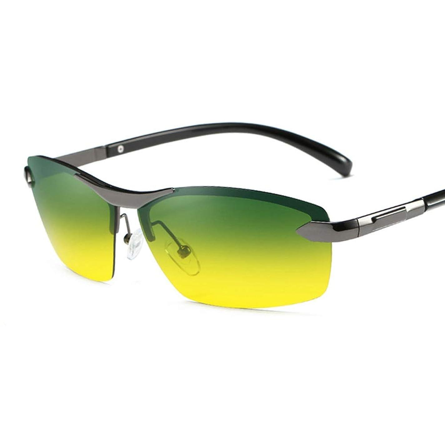 鈍い勃起ベッドを作るサングラス ドライビングデイナイト兼用偏光ドライブサングラスヘッドライトを楽にし、ビューを固定UV400メガネワイプケース付きケースドライビングメガネ用, ファッションサングラス