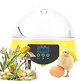 ZCXBHD Mini Incubatrice di Uova, Controllo Automatico di Temperatura per Gallina Anatre Oche Uccelli Quaglia,7 Uova Covatrice Macchina