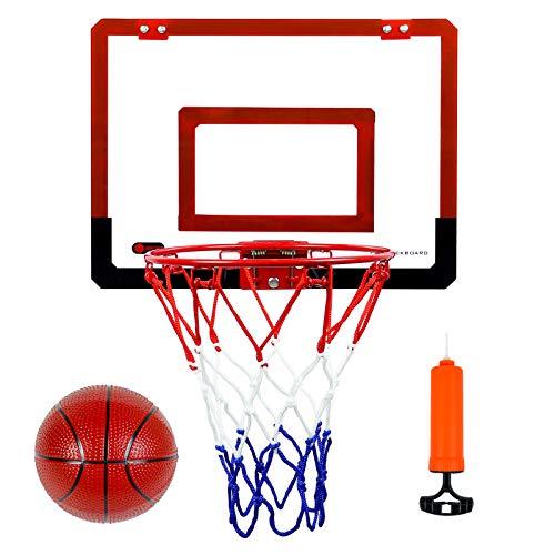 Symiu Basketball Basketballkorb Kinder fürs Zimmer mit Ball Geschenke für Mädchen Jungen Mit Türhaken Spielzeug ab 6 Jahren für Jungen Mädchen