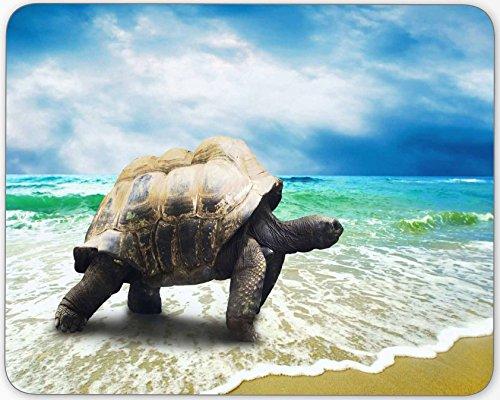canda Big Schildkröte auf Beach personalisierten Maus Pad Anti-Rutsch Rechteck Gaming Maus Pads Rectangle Big Turtle on Beach