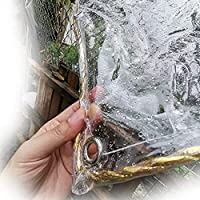 XKUN 透明ターポリン ポ防水シート引き裂き抵抗 防塵 タープ アイレット付き 屋外 カバー、 カスタマイズ可能 (Color : Clear, Size : 2M X 3.5M)