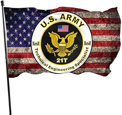IUJL Us Army Mos 11C 81Mm Mörser mit amerikanischer Flagge Banner Breeze Flag Außenflaggen Home Flag 3 'X 5' Ft