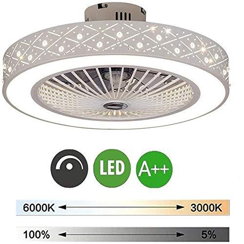 60Cm Deckenventilator Mit Beleuchtung LED-Licht Einstellbare Windgeschwindigkeit Dimmbar Mit Fernbedienung 96W Moderne LED-Deckenleuchte Für Schlafzimmer Wohnzimmer Esszimmer